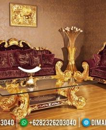 Jual 1 Set Sofa Tamu Mewah Jepara Ukiran Jackson Gold Leaf Terbaru MMJ-0020
