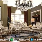 Model Terbaru Set Sofa Tamu Jepara Ukiran Mewah Duco Champage MMJ-0019