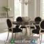 Set Meja Makan Jepara Terbaru Mewah Minimalis Luxury Gold Black MMJ-0011