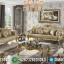 Set Sofa Tamu Jepara Mewah Finishing Gold Leaf Model Ukiran Terbaru MMJ-0041