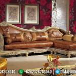 Sofa Tamu Jepara Mewah Sudut L Model Ukiran Klasik Royal MMJ-0036