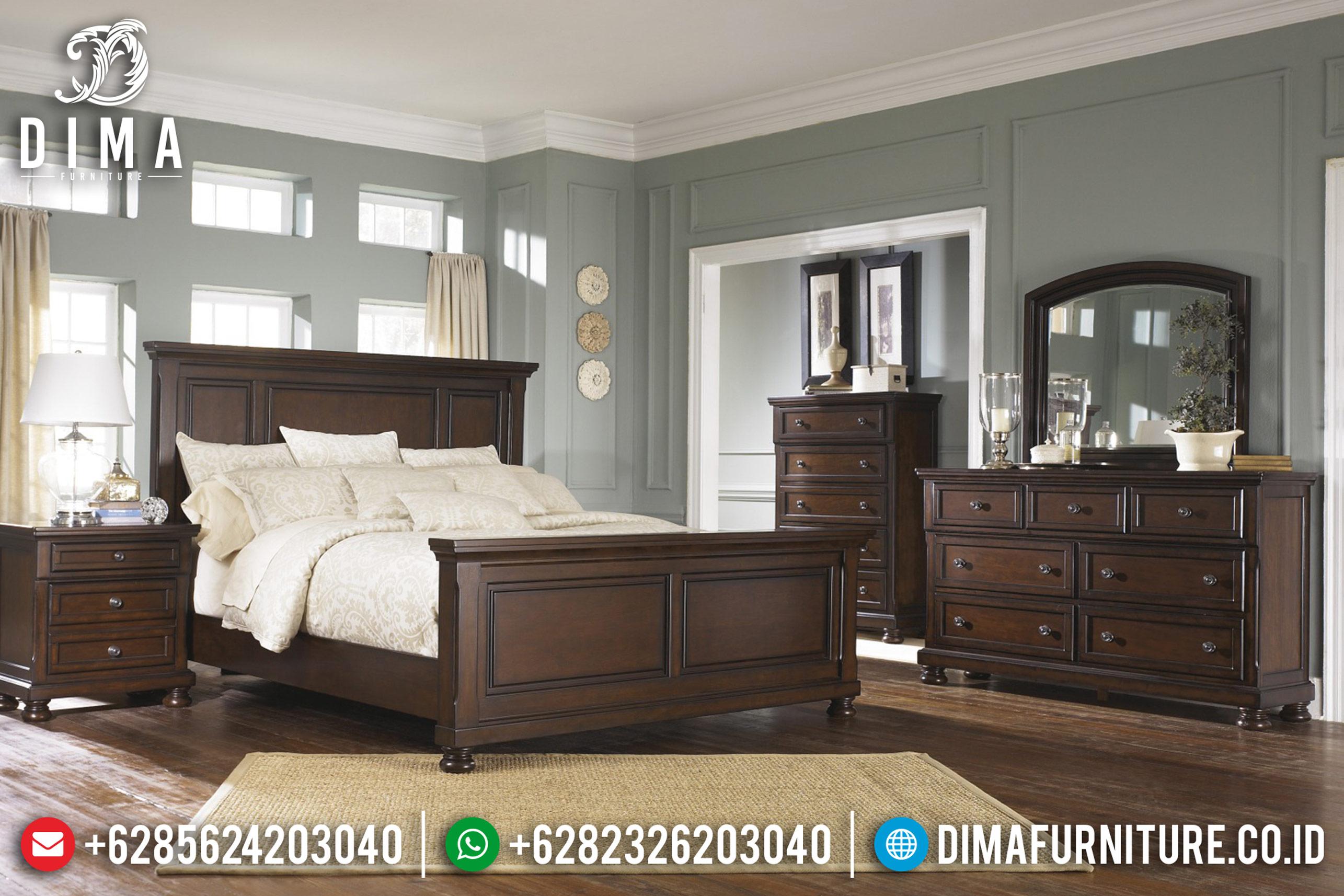 Kamar Set Tempat Tidur Jepara Minimalis Jati Natural MMJ-0072