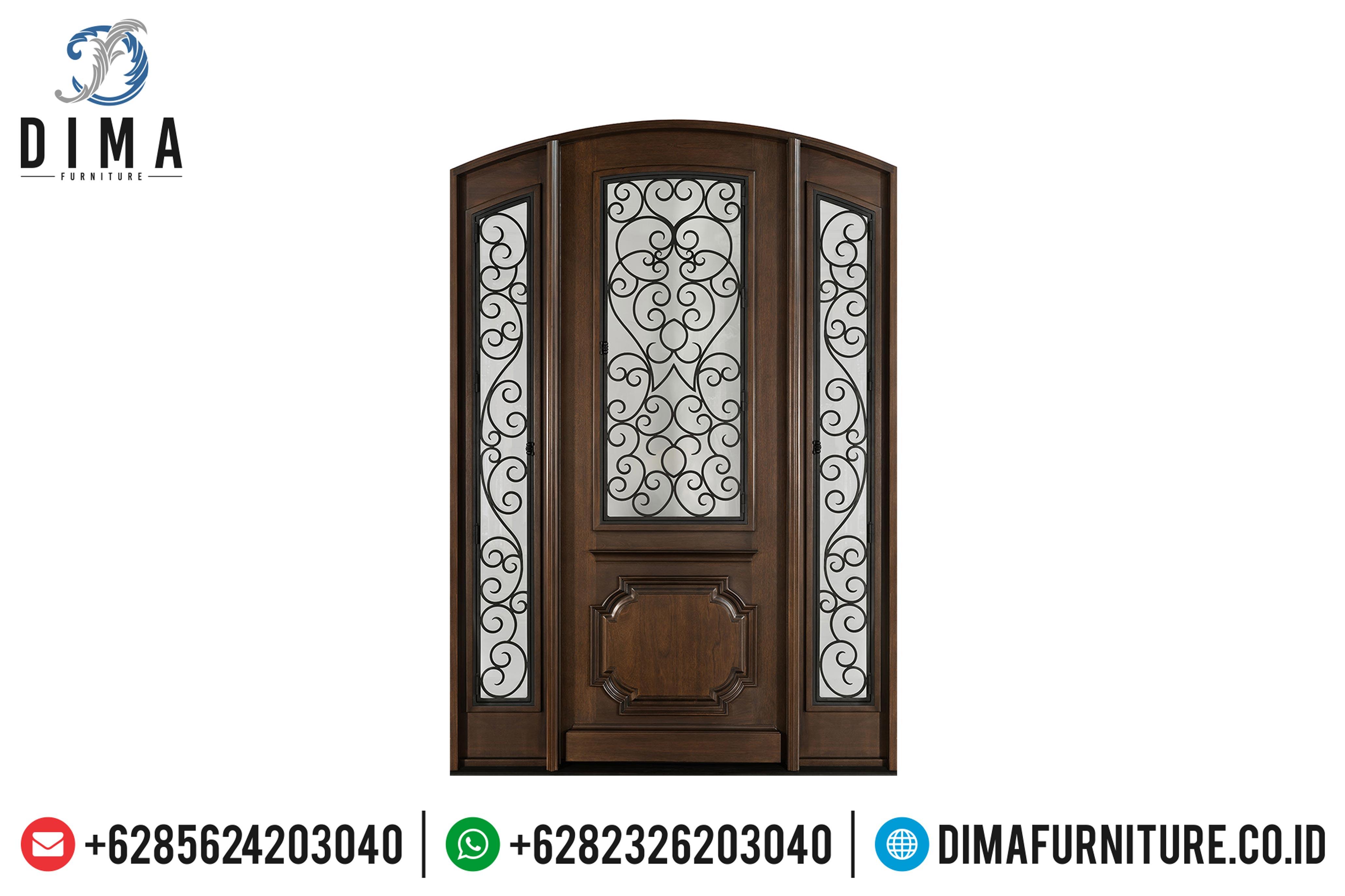Model Kusen Pintu Rumah Jati Jepara Minimalis Mewah Terbaru MMJ-0057