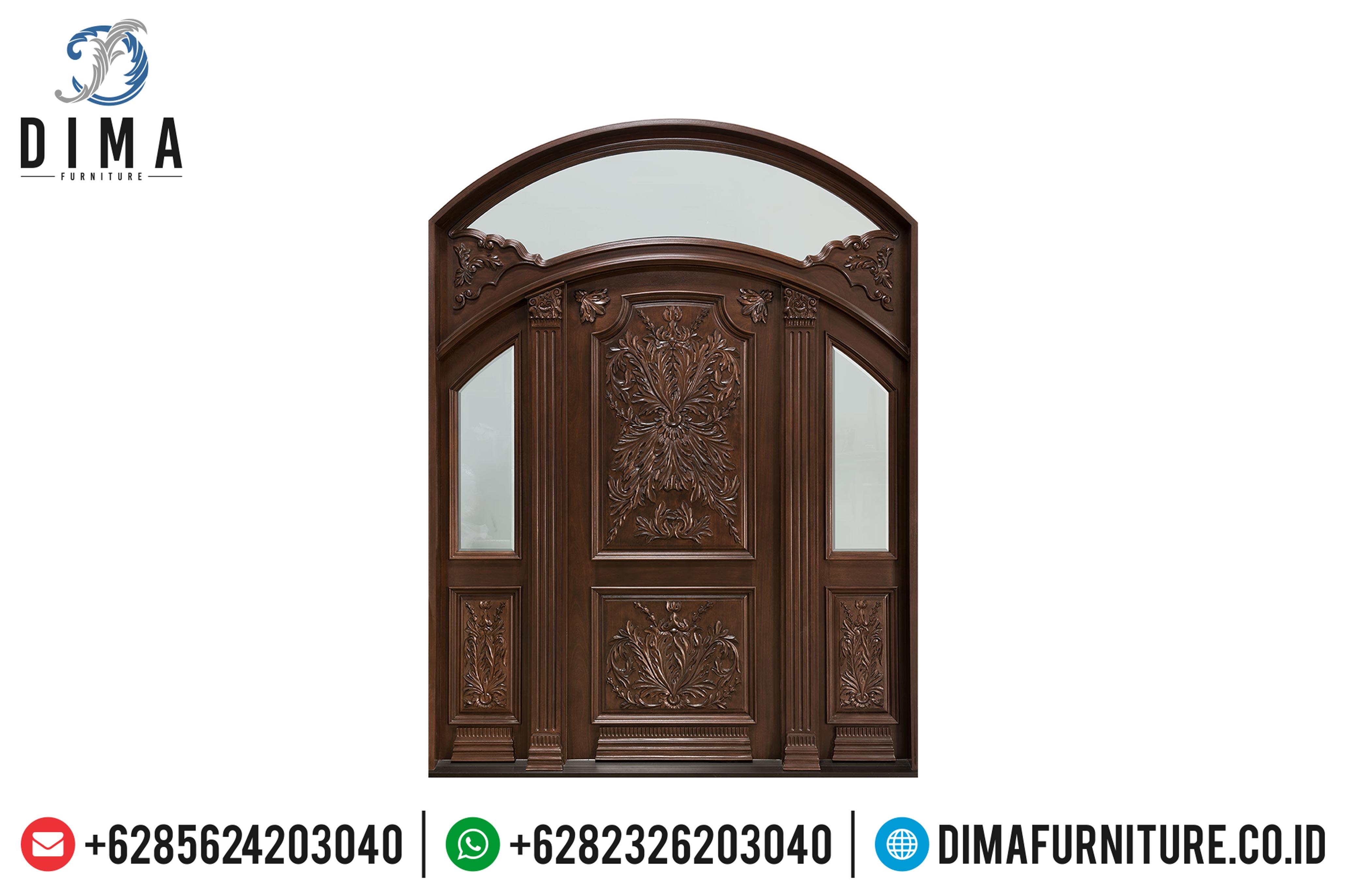 Model Kusen Pintu Rumah Jati Jepara Ukiran Klasik MMJ-0060