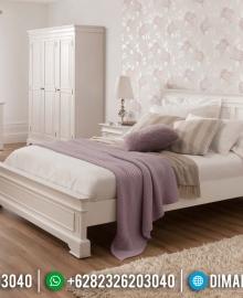 Model Sophia Tempat Tidur Jepara Minimalis Kamar Set Terbaru Duco Putih MMJ-0050