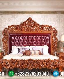Model Tempat Tidur Full Ukiran Jati Jepara MMJ-0095