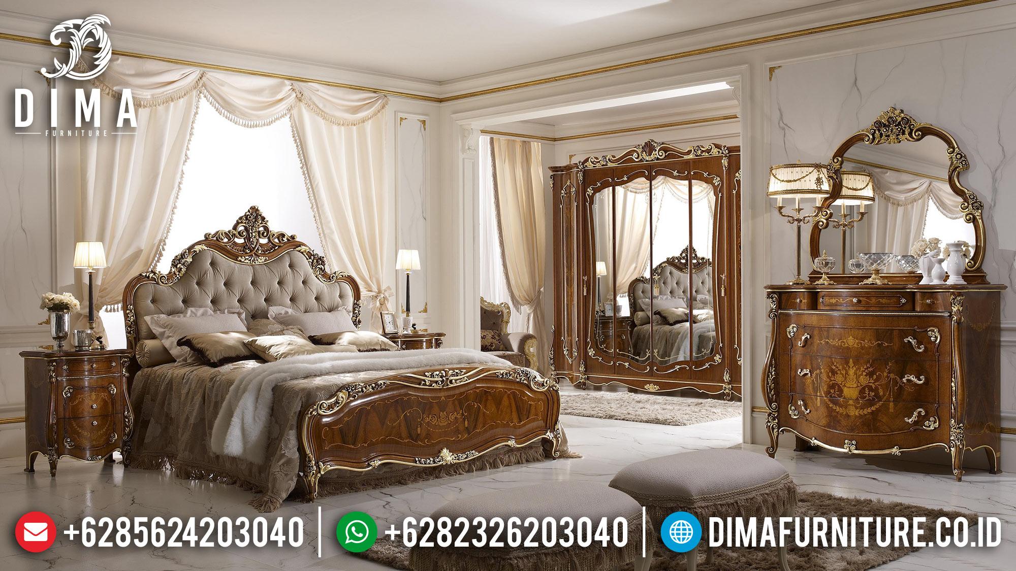 Model Tempat Tidur Jepara Mewah Jati Klasik MMJ-0105