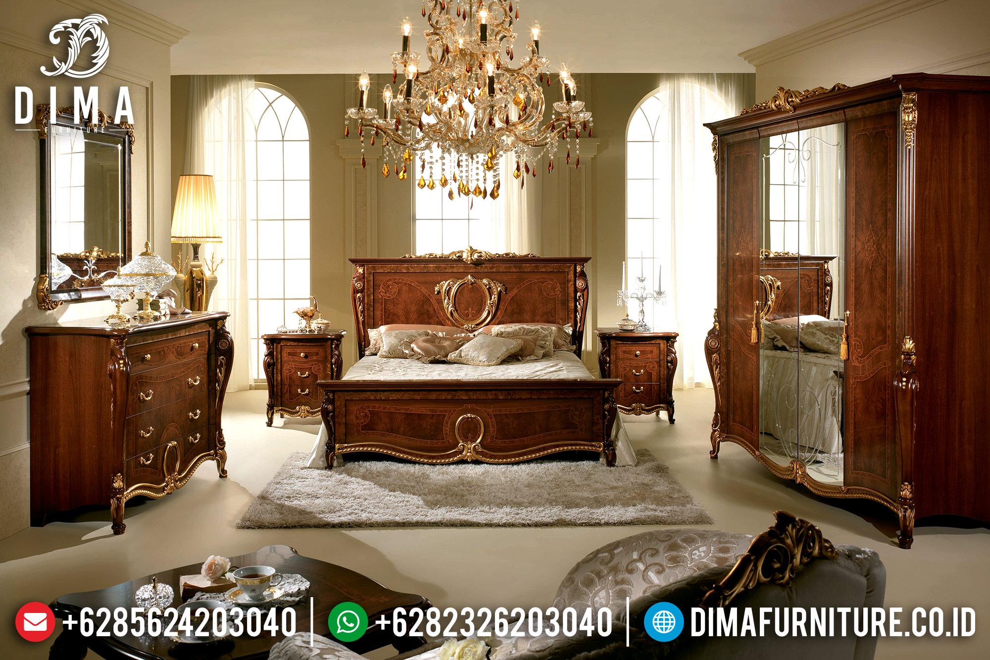 Set Kamar Tempat Tidur Mewah Jati Jepara Donatello MMJ-0118
