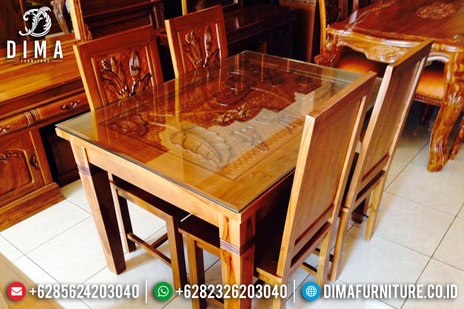 Set Meja Makan Jati Jepara Minimalis MMJ-0089