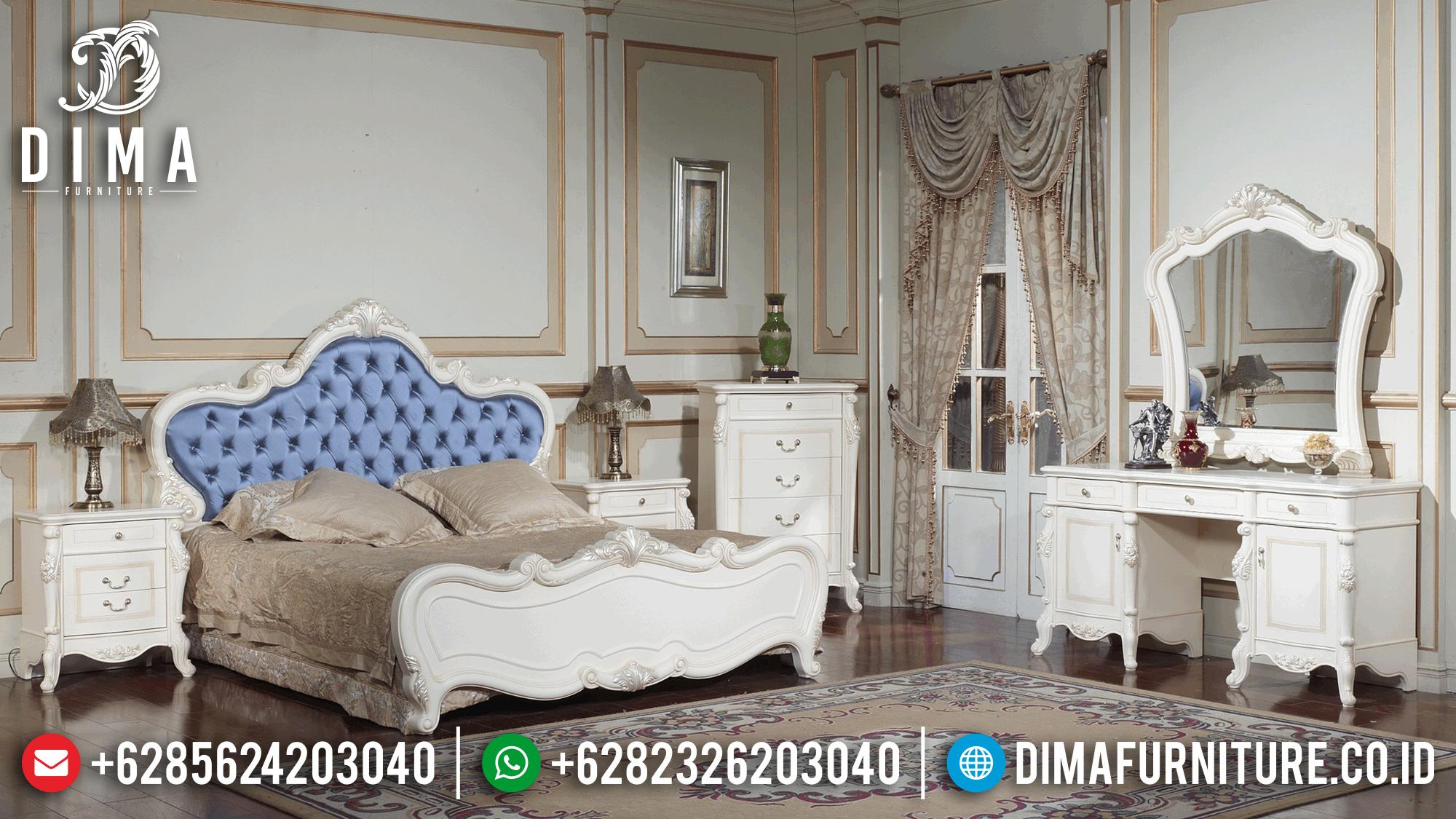 Tempat Tidur Mewah Duco Putih Jepara Terbaru MMJ-0115