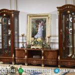 Bufet TV Jepara Mewah Jati Ukiran Klasik Natural MMJ-0187