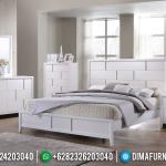 Harga Tempat Tidur Minimalis Jepara Putih Thania MMJ-0134