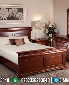 Jual 1 Set Tempat Tidur Minimalis Jepara Kayu Jati MMJ-0168