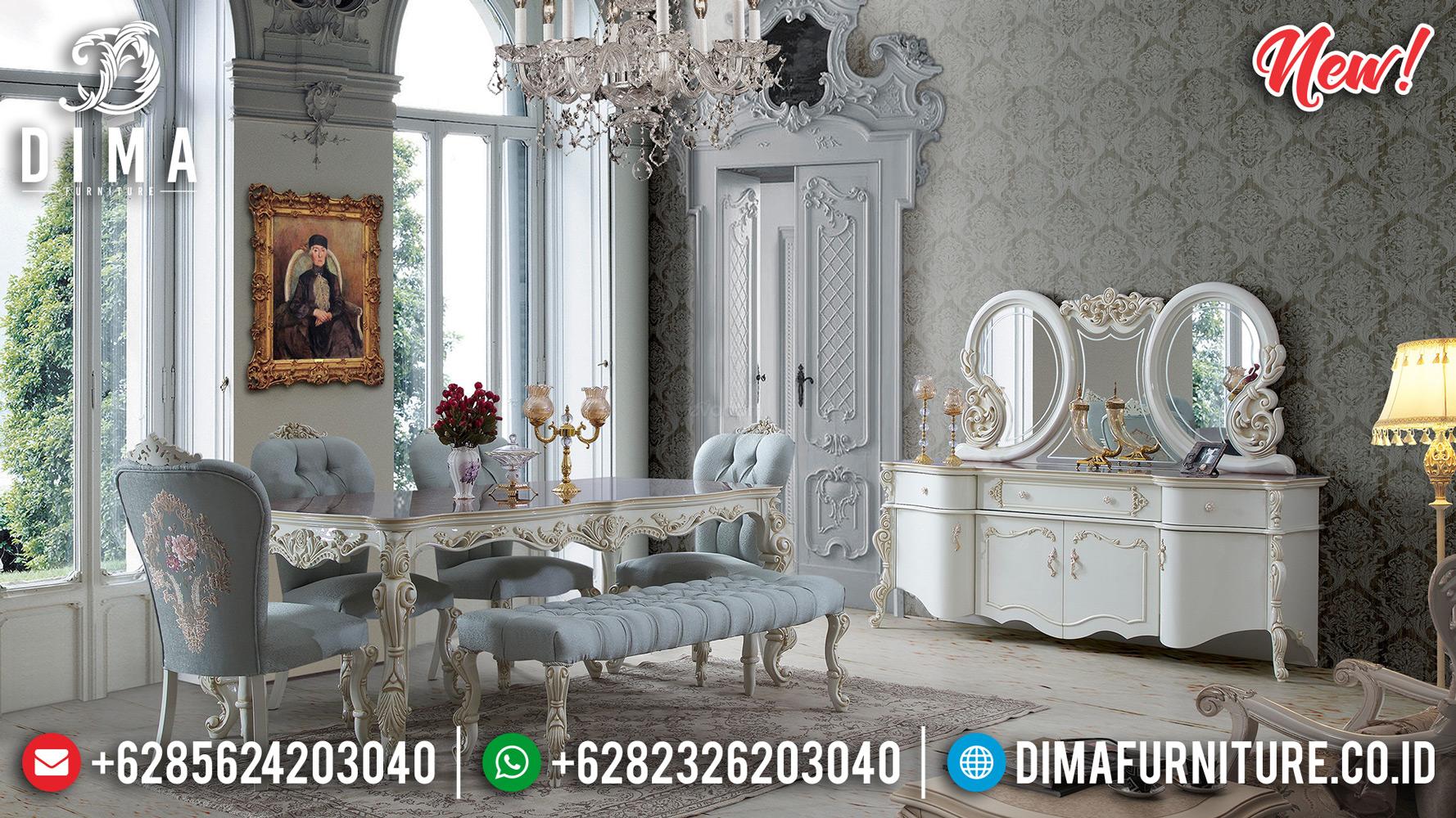 Model Sultan Meja Makan Mewah Jepara Ukir Duco Pearl MMJ-0191