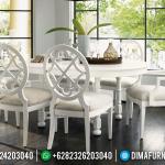 Jual Set Meja Makan Jepara Broken White Minimalis MMJ-0207