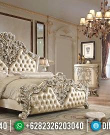 Jual Tempat Tidur Mewah New Ukiran Klasik Jepara MMJ-0232