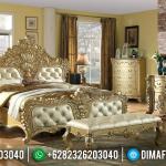 Terbaru Set Tempat Tidur Jepara Gold Ukir Klasik MMJ-0231