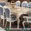 Meja Makan Mewah Duco Ivory Gold Jepara 2020 MMJ-0245