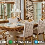 New Set Meja Makan Jepara Ukiran Klasik Gold MMJ-0243