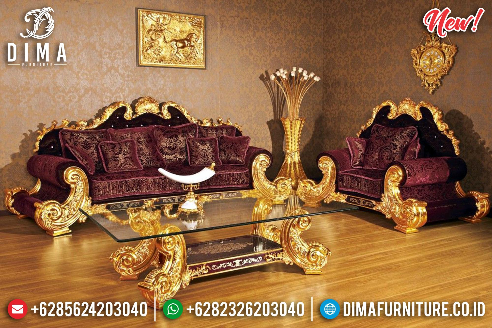 Set 3 2 1 1 Sofa Tamu Mewah Jepara Jackson Gold MMJ-0237