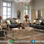 Set 3 2 1 Sofa Tamu Jepara Mewah Classic Ivory MMJ-0235