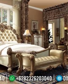 Ukiran Klasik Jepara Tempat Tidur Mewah Gold Sultan MMJ-0262