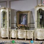 Desain Bufet TV Mewah Elizabeth Ukiran Klasik Jepara MMJ-0337