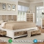 Model Tempat Tidur Modern Minimalis Duco Kombinasi Natural Jati MMJ-0271