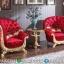 New Desain Kursi Teras Mewah Angelia Red Golden MMJ-0309