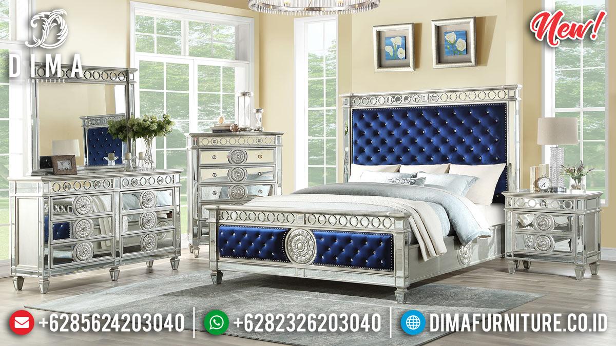 New Desain Tempat Tidur Modern Minimalis Silver Glass Coat MMJ-0286