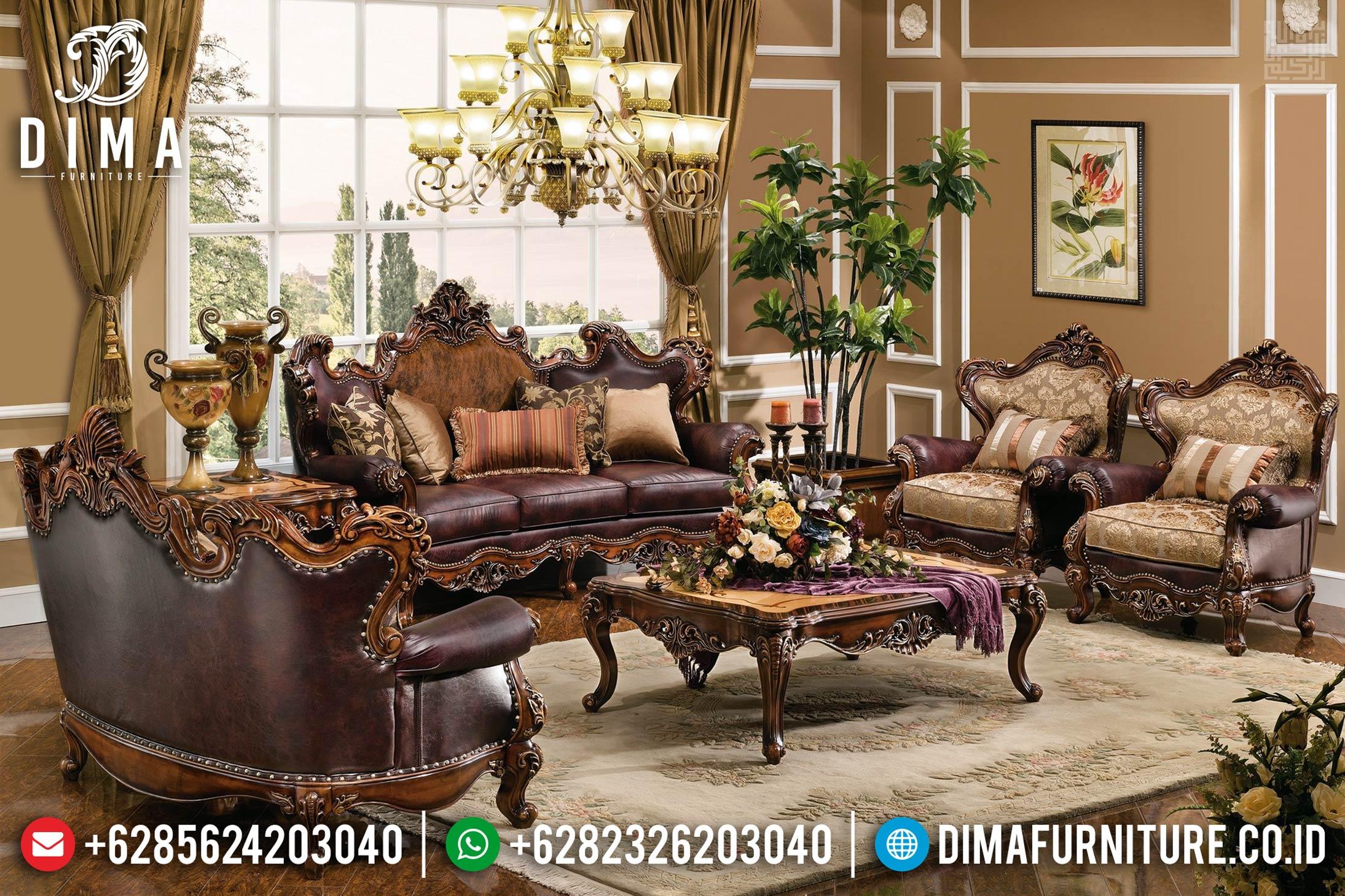 Furniture Jepara Set Sofa Tamu Jati Rose Wood Natural Color MMJ-0394