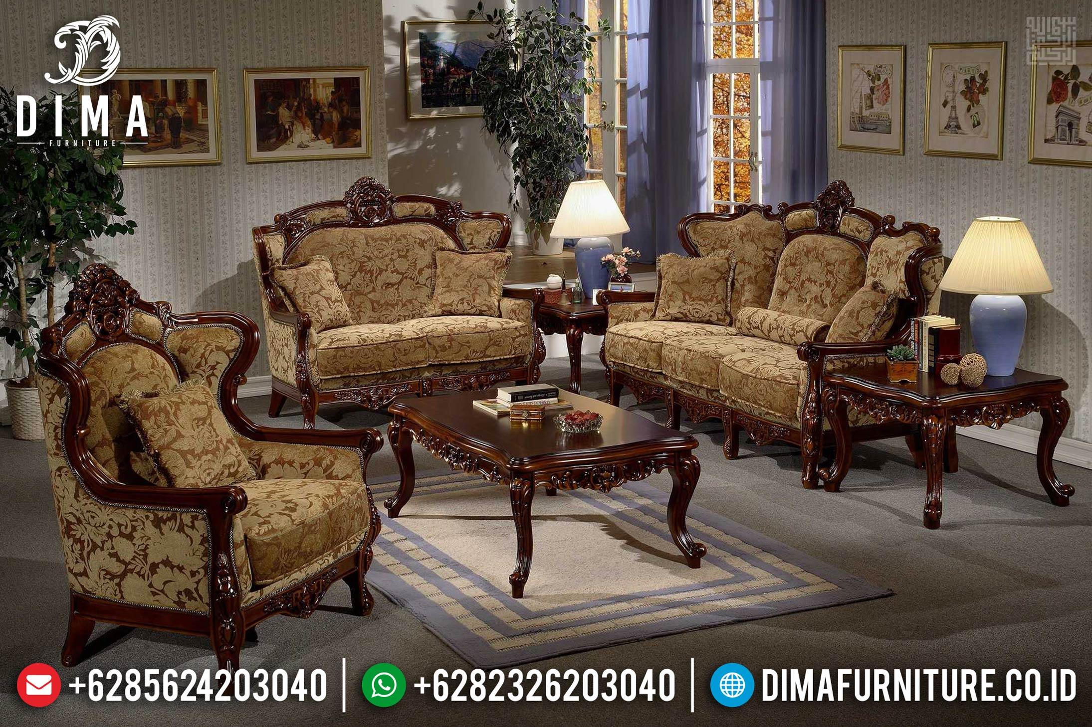 Great Class Sofa Tamu Mewah Jati Natural Kayu Perhutani Furniture Jepara MMJ-0393