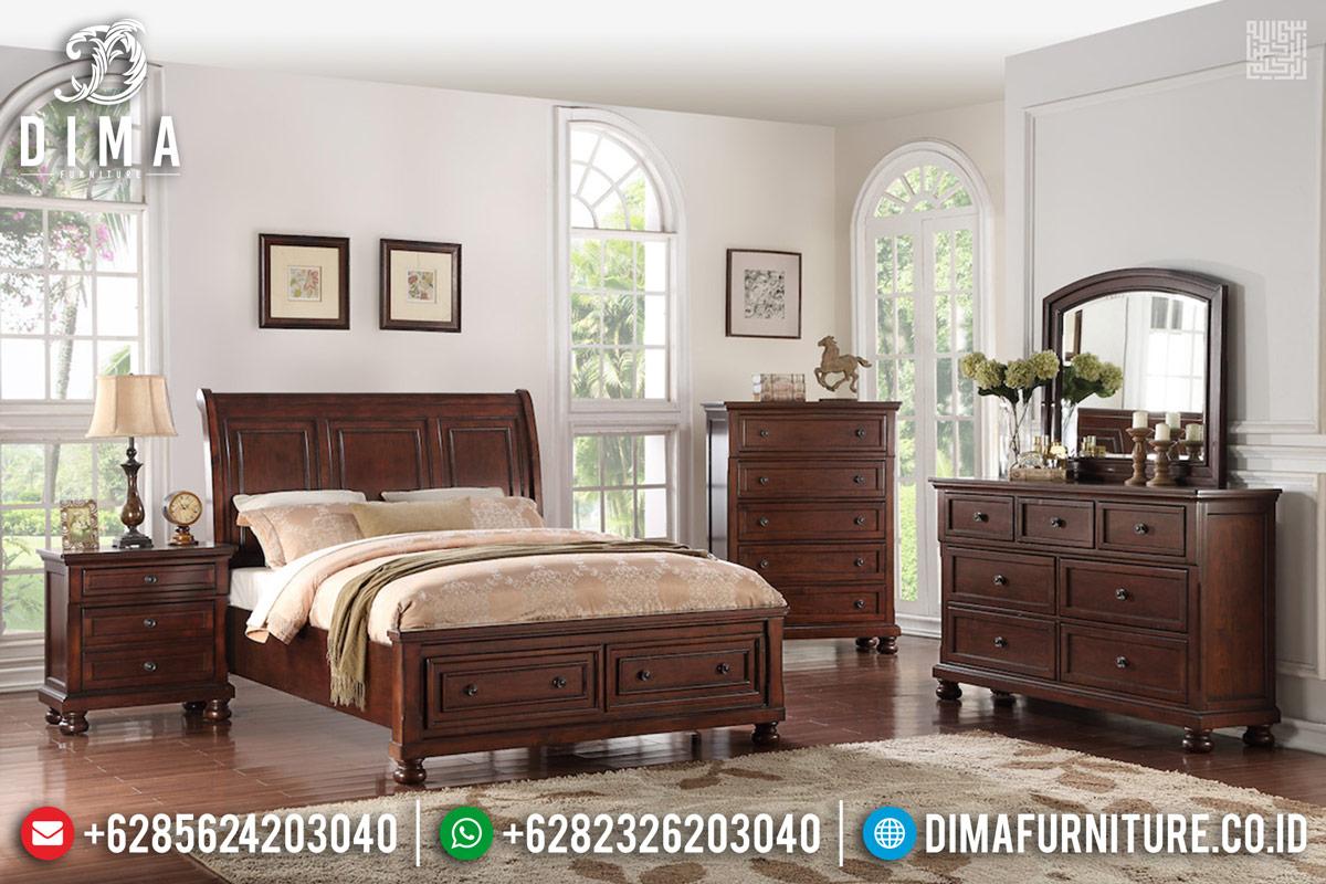 Kamar Set Jati Natural Klasik Rose Wood Color MMJ-0352
