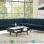New Models Set Sofa Tamu Sudut Minimalis Retro Navy Deck Green MMJ-0374