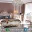 New Tempat Tidur Mewah Jepara White Duco Golden Shade MMJ-0383