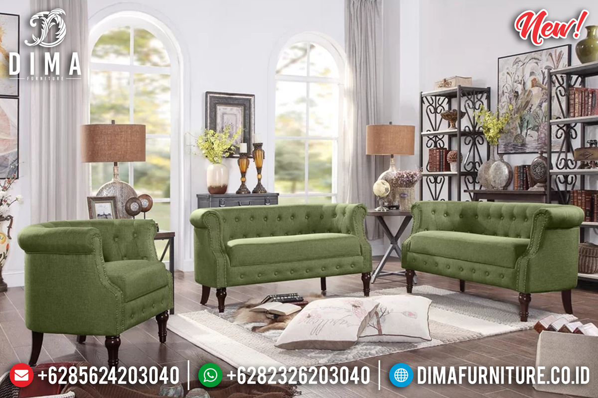 Sofa Tamu Minimalis Classic Retro Vintage Natural Jepara MMJ-0369