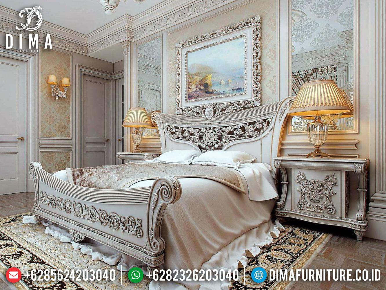 Big Sale Tempat Tidur Mewah Jepara Ukiran Classic Italian Baroque Style MMJ-0461