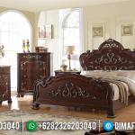 Design Classic Tempat Tidur Mewah Jati TPK Perhutani Furniture Jepara MMJ-0449