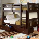 Design Tempat Tidur Anak Dipan Ranjang Tingkat Terbaru Natural Jati Jepara MMJ-0429