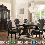 Furniture Jepara Minimalis Set Meja Makan Jati Kursi 6 Natural Salak Brown Glossy MMJ-0416