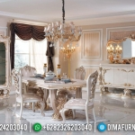 Furniture Jepara New Set Meja Makan Mewah 4 Kursi Luxury Carving Classic MMJ-0405