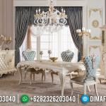 Furniture Jepara Terkini Meja Makan Mewah Putih Duco Kombinasi MMJ-0401