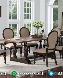 Harga Meja Makan Jati Natural Classic Furniture Jepara Terlaris MMJ-0410