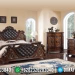 Harga Tempat Tidur Jati Mewah Natural Brown Salak Glossy MMJ-0448