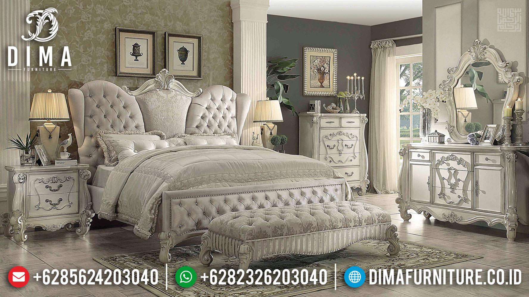 Harga Tempat Tidur Mewah Vanessa Cat Putih Duco Kombinasi MMJ-0426