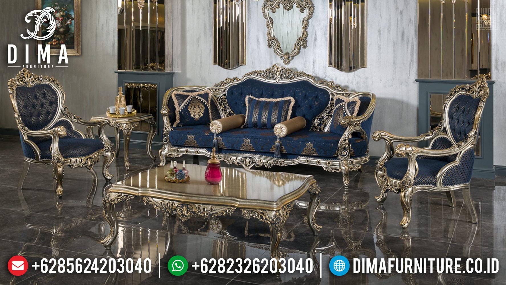 Jual Sofa Tamu Mewah Golden Champagne New Design Luxury Carving Jepara MMJ-0442