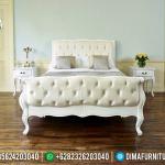 Konsep Interior Kamar Set Mewah Ukiran Jepara Putih Duco Furniture Luxury MMJ-0460