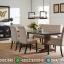 Meja Makan Jati Louise Natural Classic Kayu Perhutani Furniture Jepara Terkini MMJ-0418