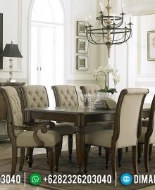 Meja Makan Jati Natural Minimalis Furniture Jepara New 2020 MMJ-0407