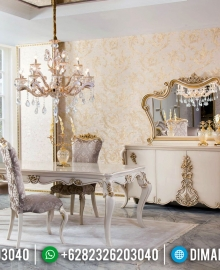 Meja Makan Mewah Golden Crown Luxury Furniture Jepara MMJ-0404